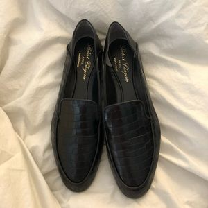 Robert Clergerie Crocodile Leather Loafers